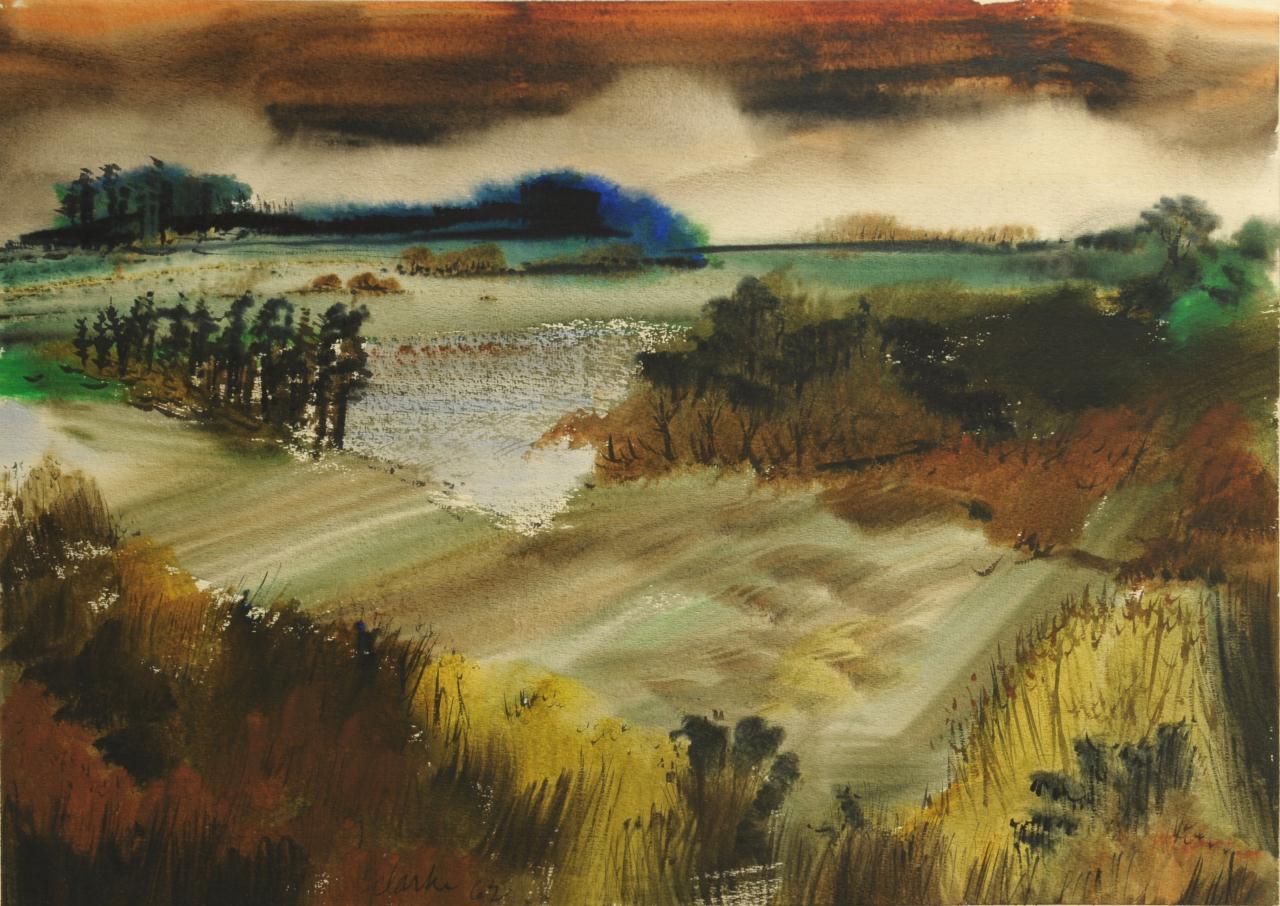 Lot 46: Richard Clarke Grouse Creek TN Watercolor