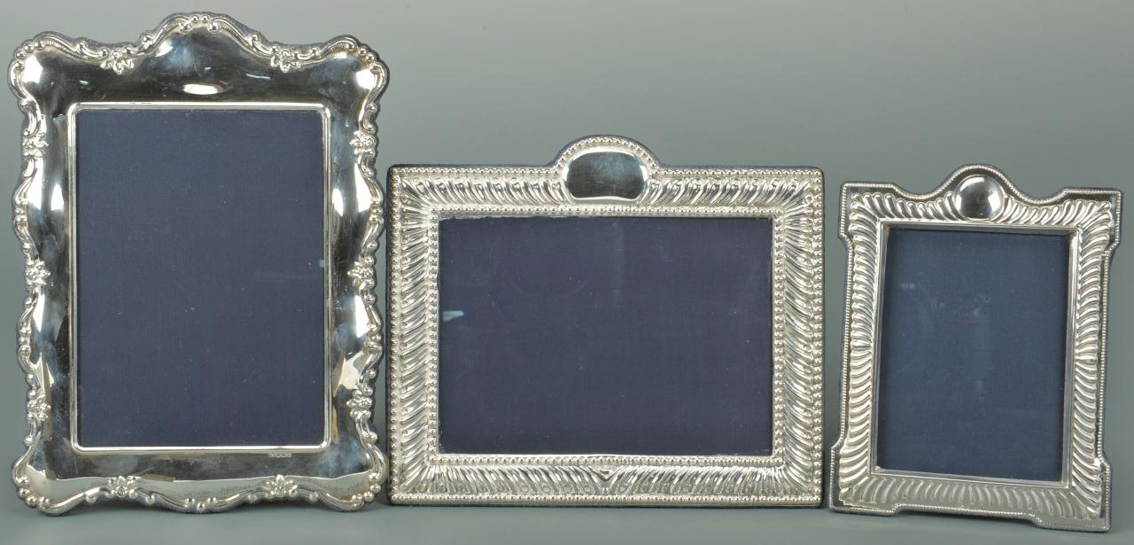 Lot 470: 3 English Sterling Silver Photo Frames