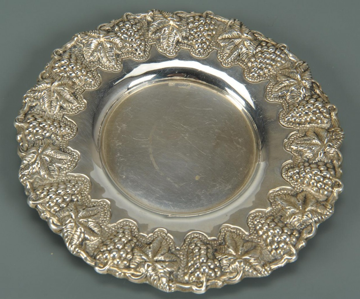 Lot 472: Four Repousse Sterling Table Items incl Stieff