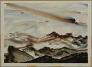 Lot 47: Richard Clarke watercolor, Polkton Mountain