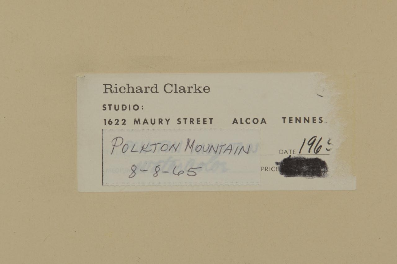 Lot 47: Richard Clarke watercolor, Polkton Mountain