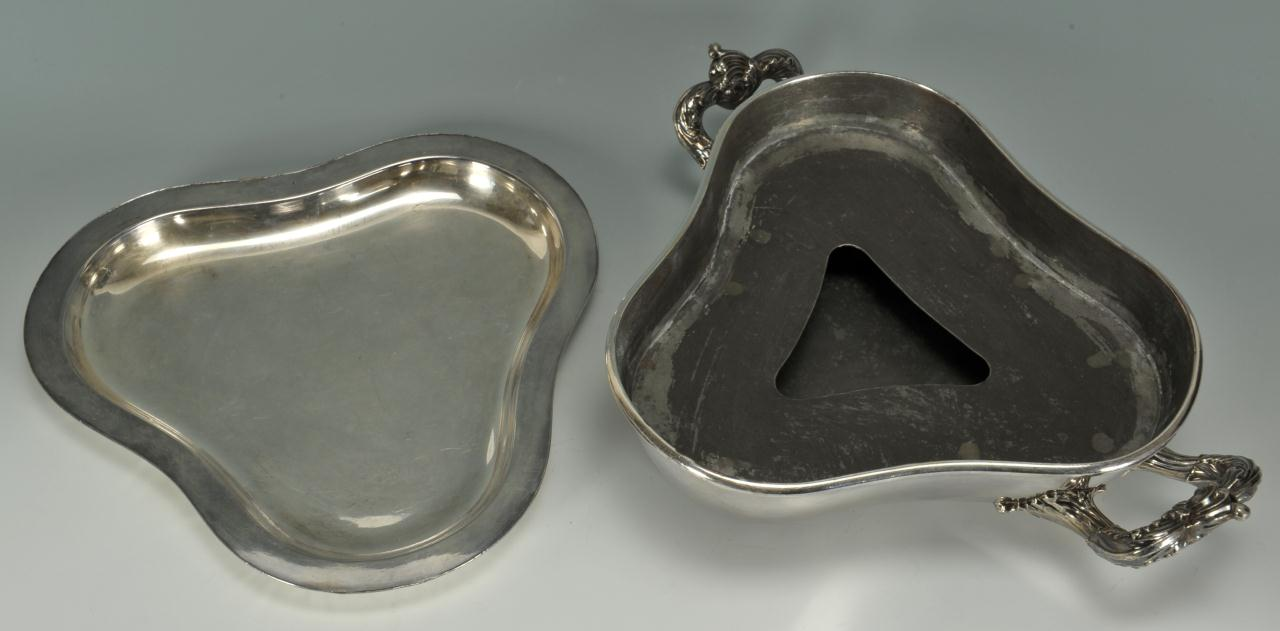 Lot 486: Matthew Boulton warming dish and wine coaster
