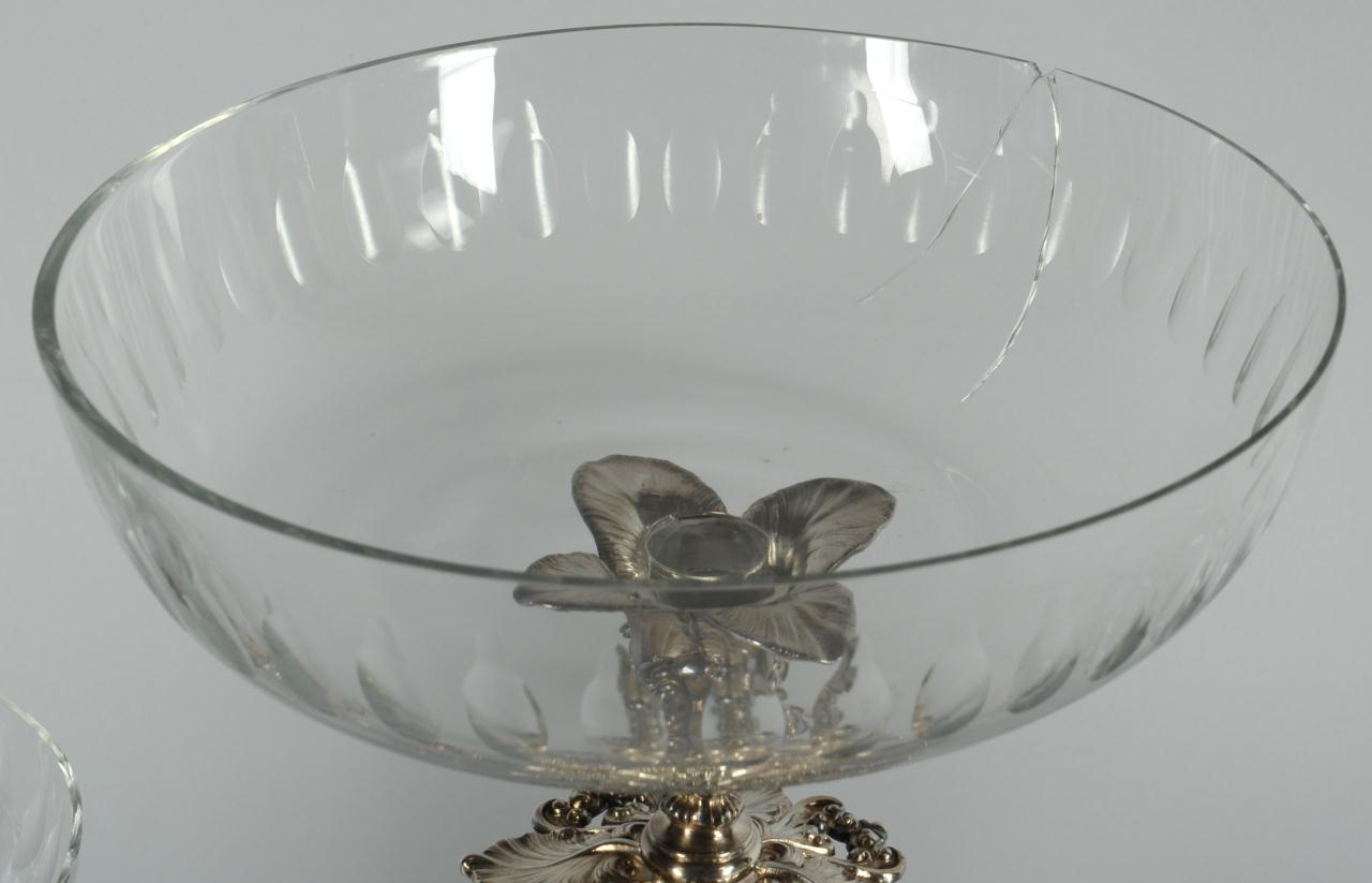 Lot 490: Reed and Barton silverplate epergne w/ glass inser