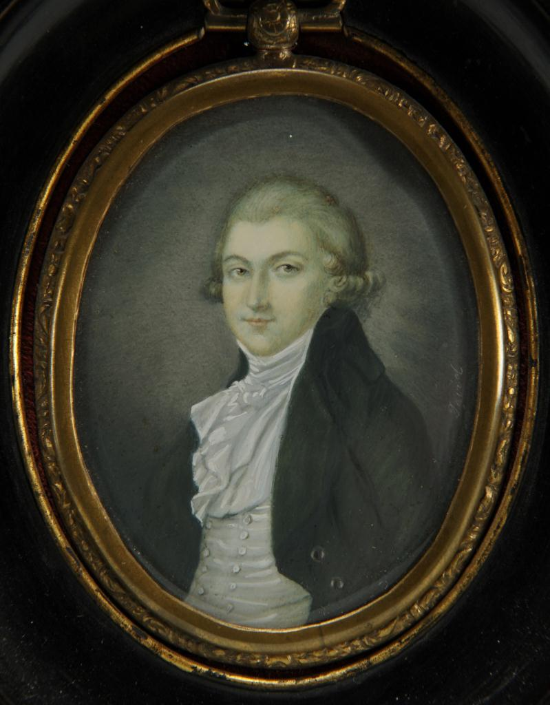 Lot 498: Three miniature portraits of gentlemen