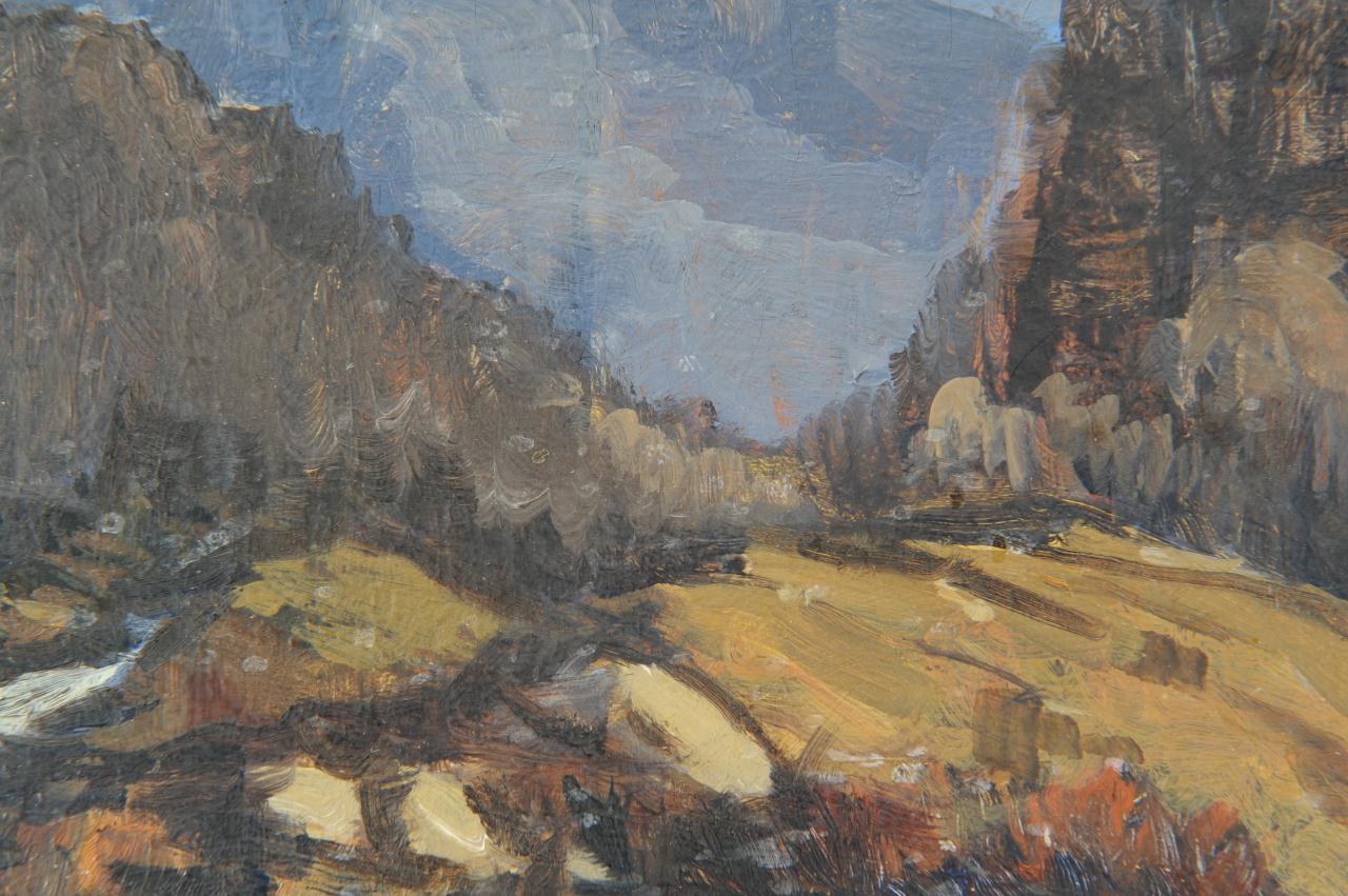 Lot 49: Louis Jones, Mountain Landscape painting
