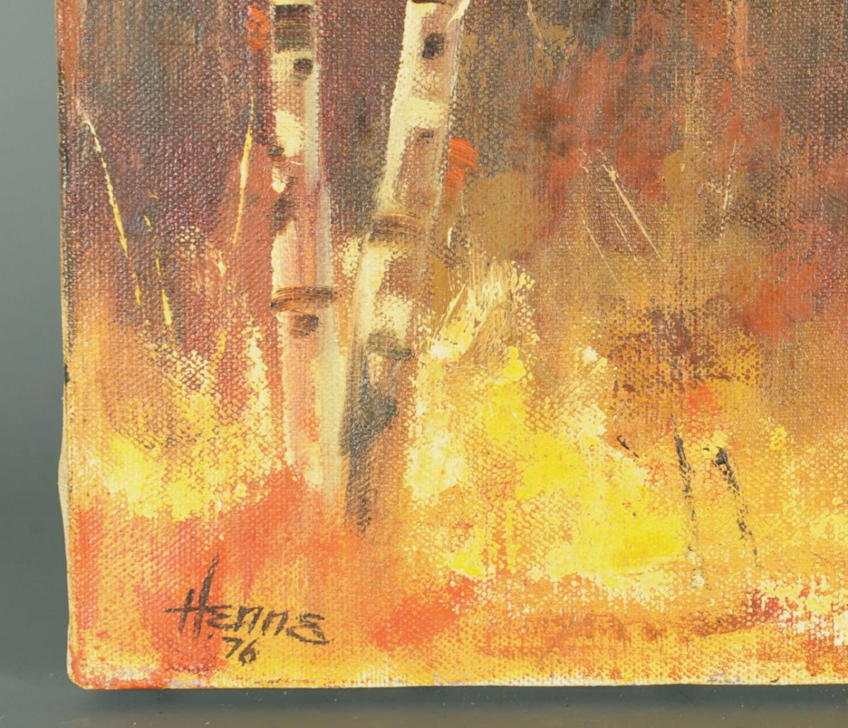 Lot 501: Ellen Goodale, Alaska Landscape oil on canvas