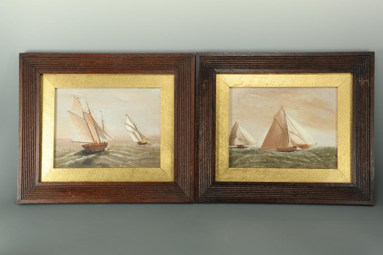 Lot 509: Pair of 19th century maritime paintings