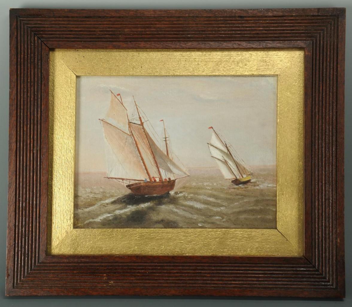 Lot 509: Pair of 19th century maritime paintings