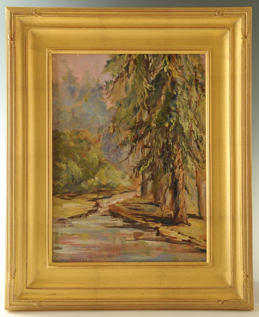 Lot 50: William Posey Silva, Southern landscape, pine tree