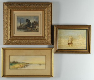 Lot 510: Three nautical paintings