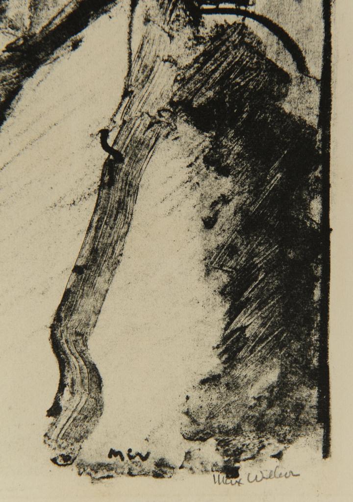 Lot 513: Max Weber Woodcut, Italian Model