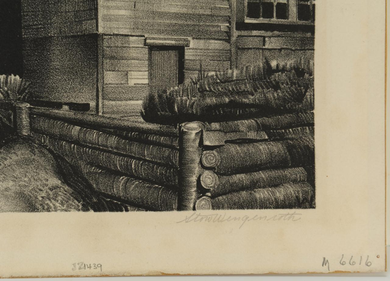 Lot 514: Stow Wengenworth Lithograph, Deserted House