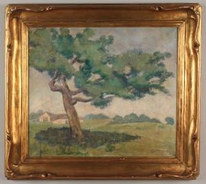 Lot 516: American School Impressionist Landscape