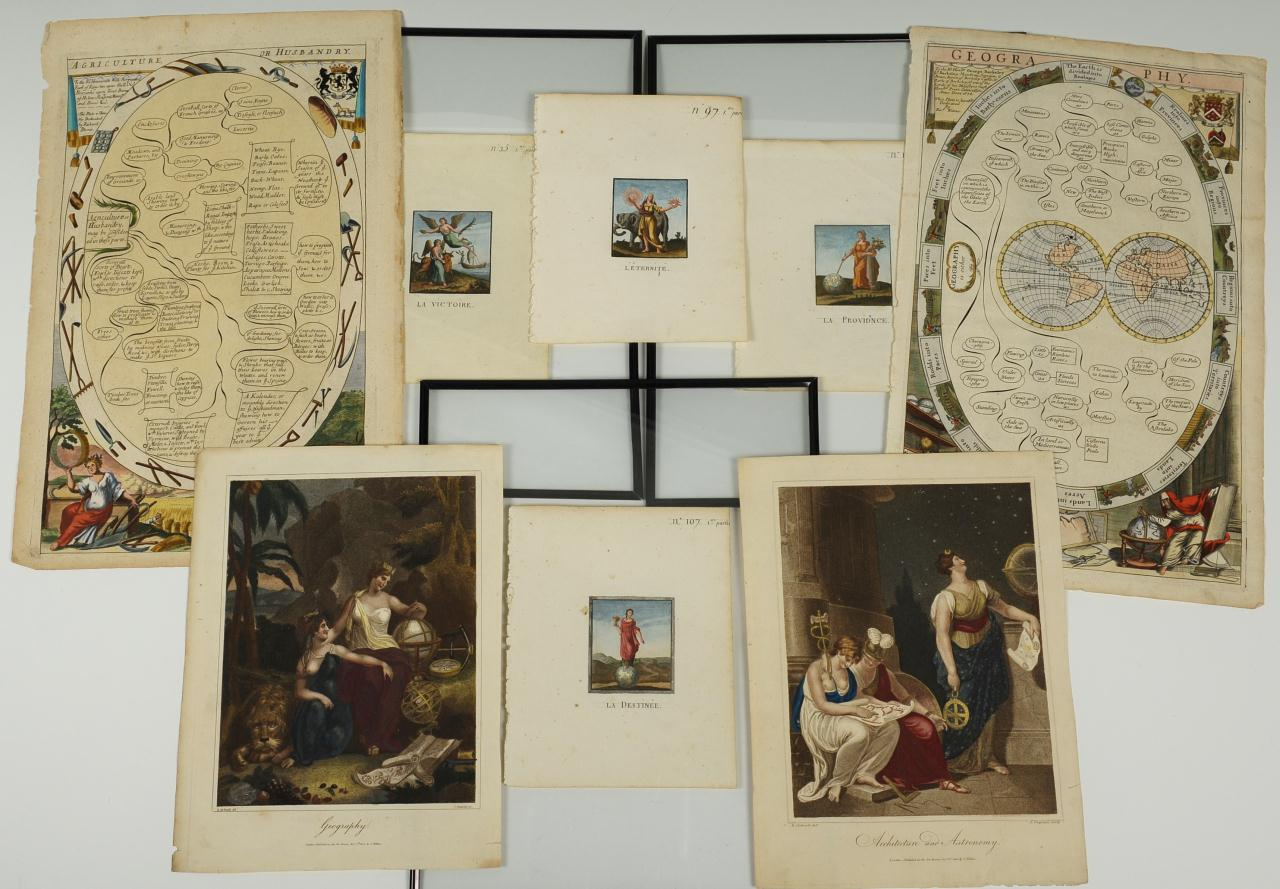 Lot 51: Group of 18th & 19th c. French & English prints