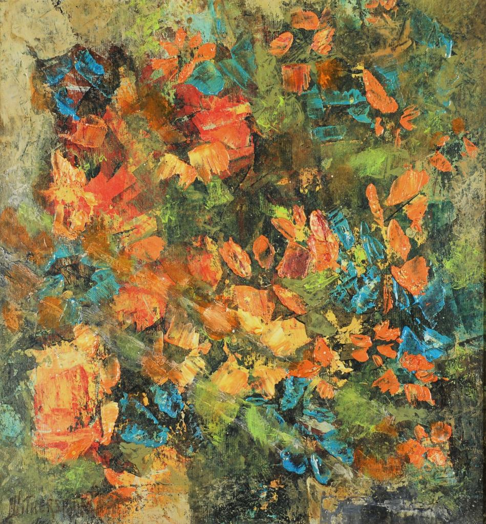 Lot 520: Robert Witherspoon oil on board, impressionist flo