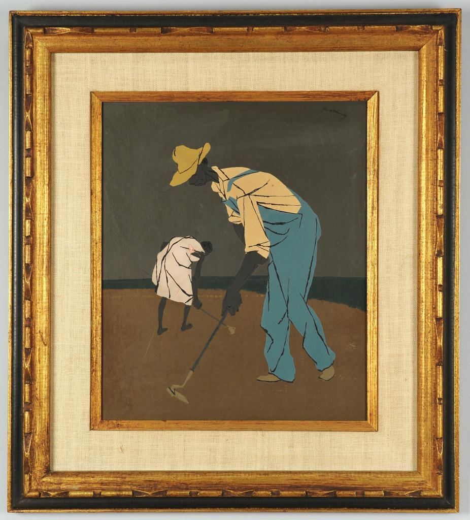 Lot 522: Robert Gwathmey sharecropper screenprint