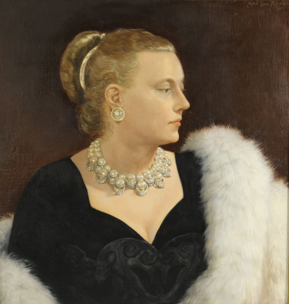Lot 523: Mallie McAninch, portraits of Wm. and Alice Leigh