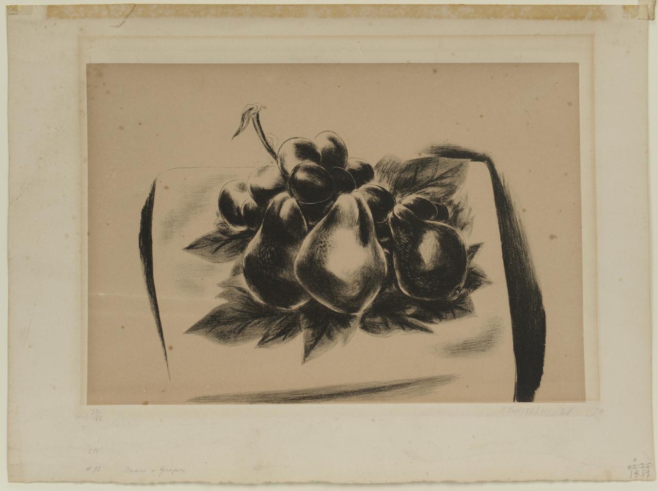 Lot 524: Yasuo Kuniyosai Still Life Lithograph