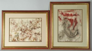 Lot 526: Pang Tseng Ying, Pair of Paintings