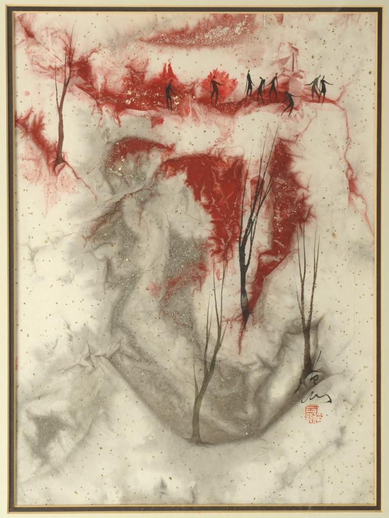 Lot 526: Pang Tseng Ying, Pair of Paintings
