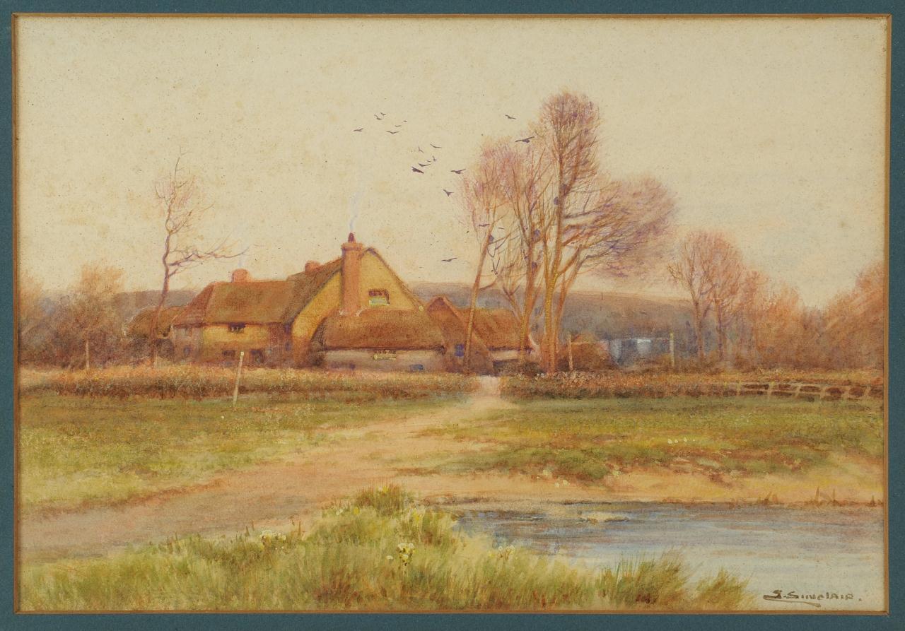 Lot 528: Landscape Watercolor, S. Sinclair