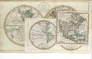 Lot 52: Three 18th C. maps incl. R. Vaugondy and J. Bayly