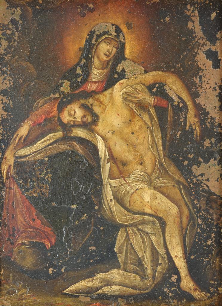 Lot 530: 2 Italian School paintings on copper, The Pieta