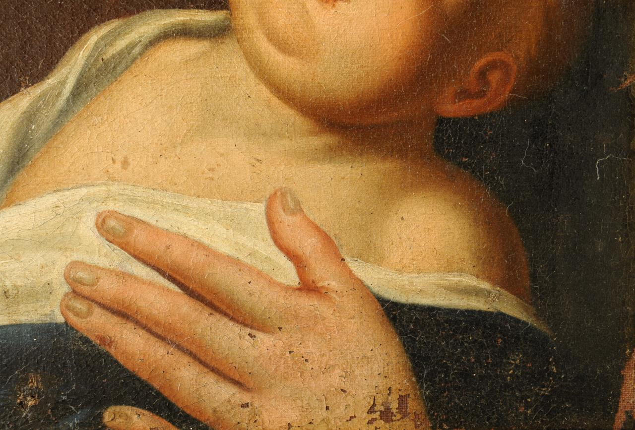 Lot 532: Old Master Style Painting, Madonna & Child