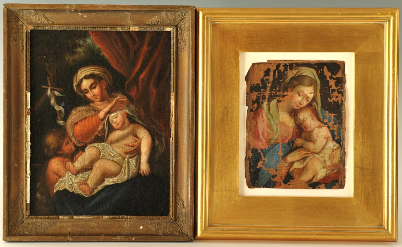 Lot 533: 2 Madonna and Child paintings, 19th c.
