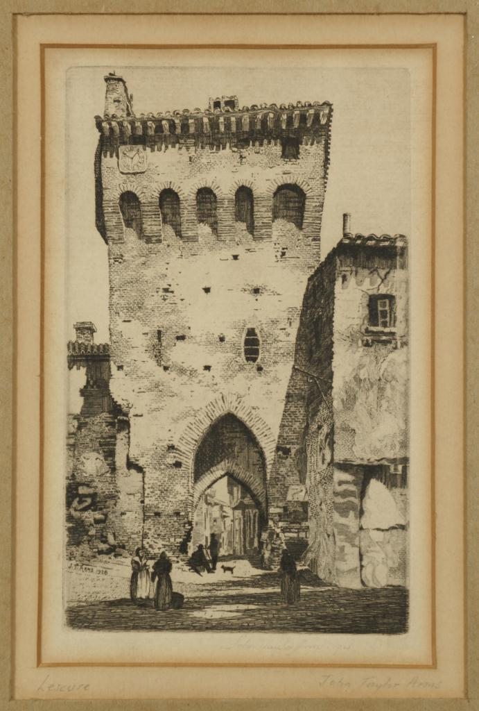 Lot 536: 2 Etchings: 1 by J.T. Arms and 1 after Rembrandt