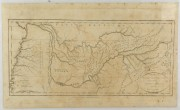 Lot 54: 18th Century map of Tennessee with Native American