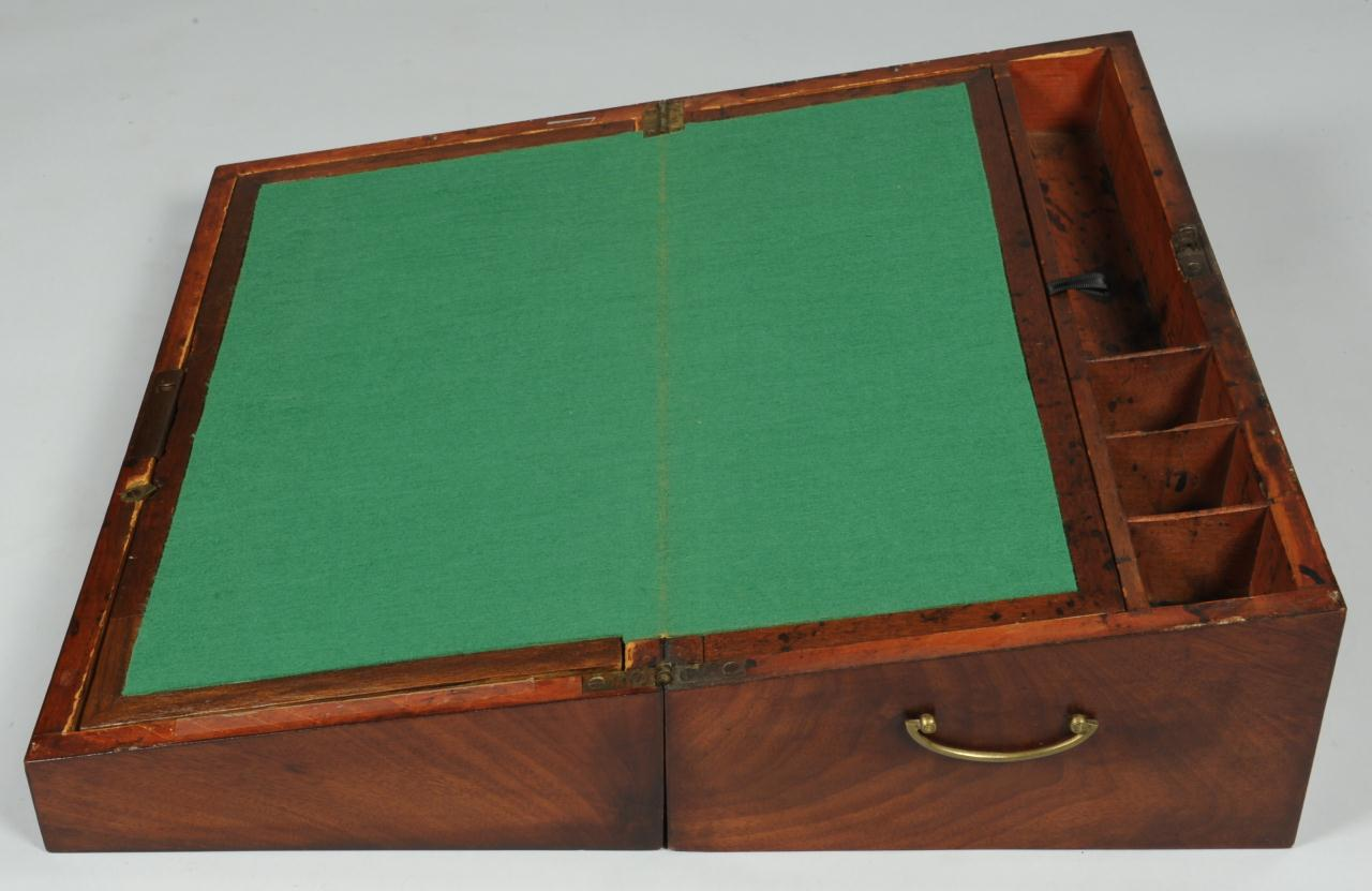 Lot 551 English Portable Writing Desk On Later Stand