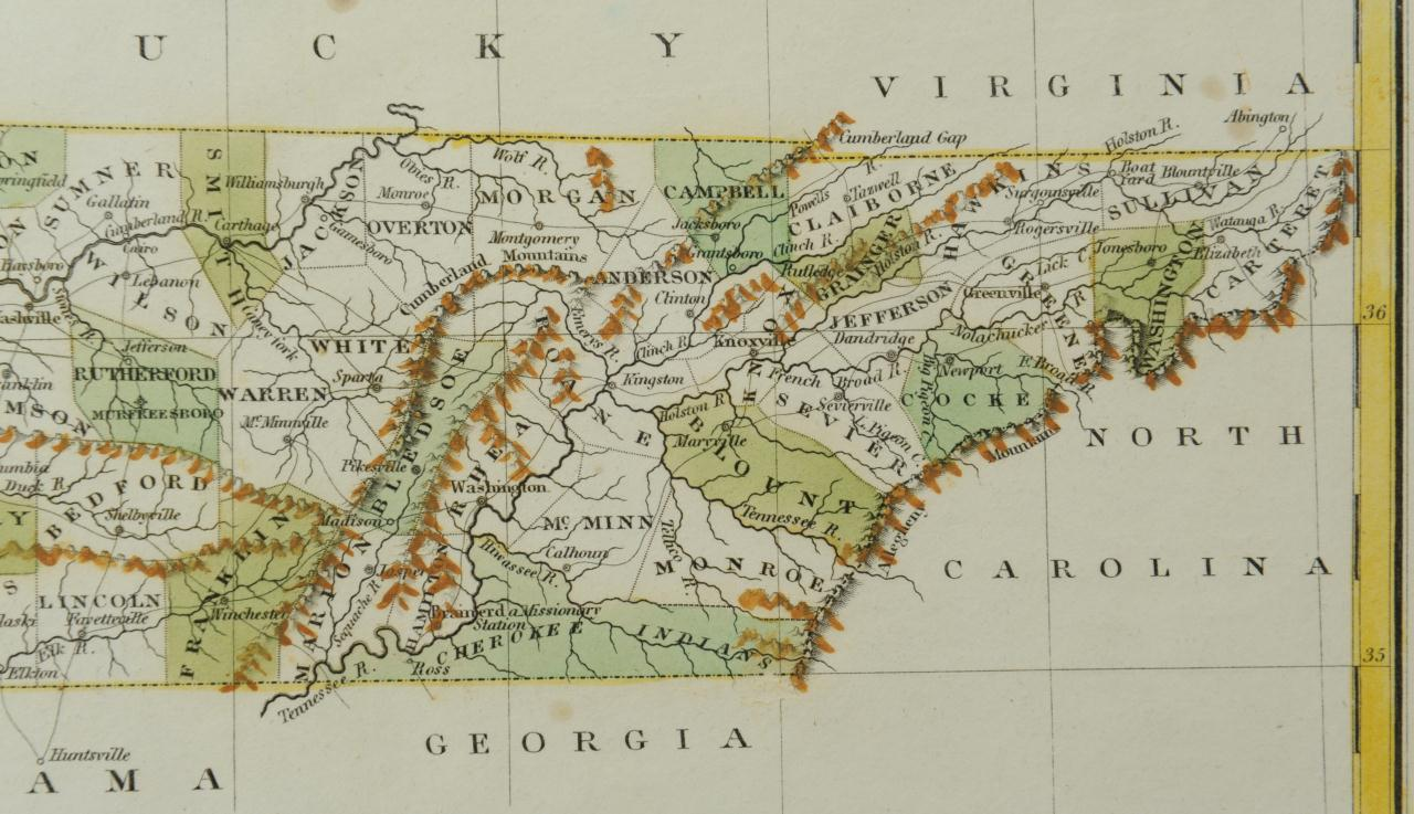 Lot 55: Two 19th c. Maps, Tennessee & Kentucky