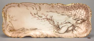 Lot 561: Haviland Limoges oyster serving platter