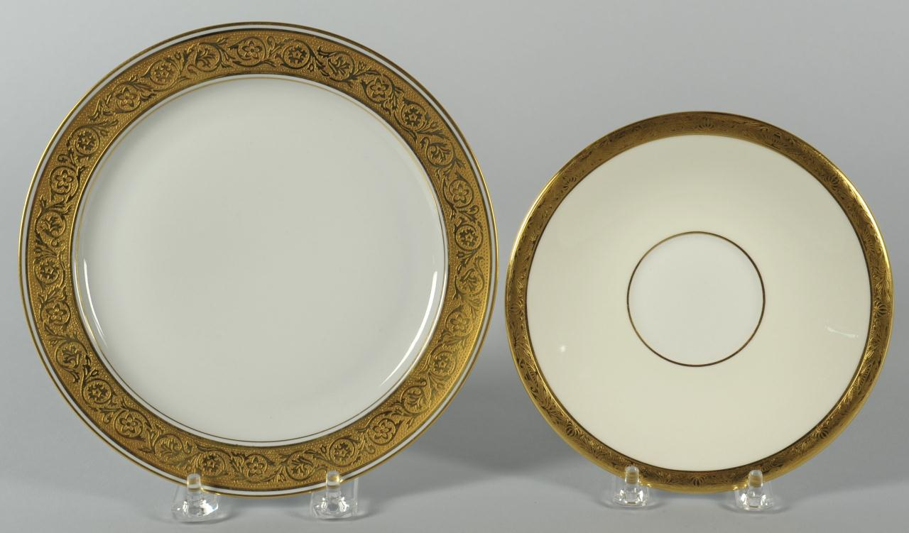 Lot 568: Limoges and Minton China dinnerware, 80 pcs