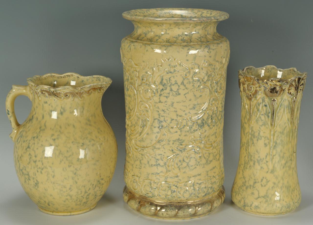 Lot 569: 8 Pieces Of Yellow Sponge Ware