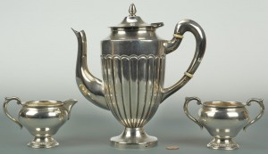 Lot 572: Sterling Coffee Items, 3 pcs.