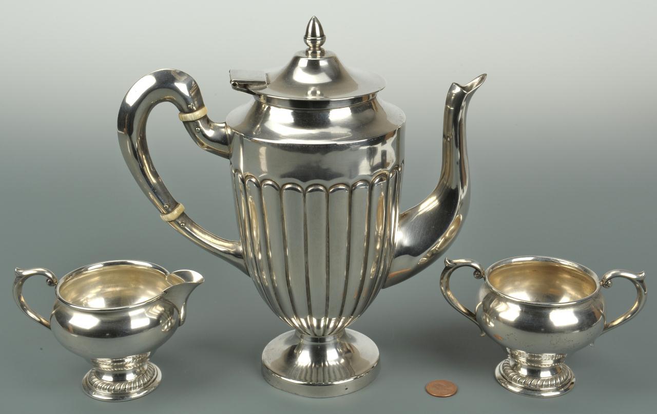 Lot 572: Sterling Coffee Items, 3 pcs.