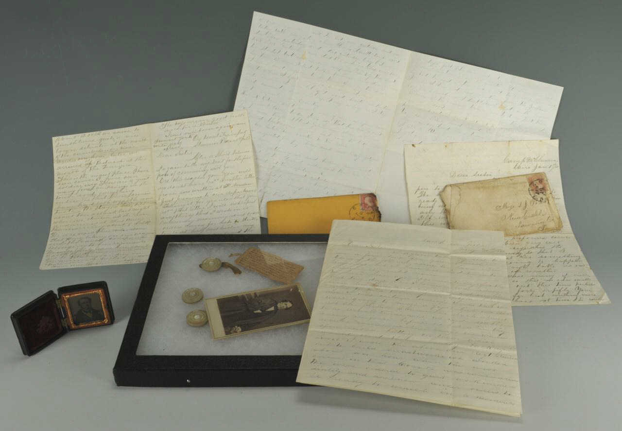 Lot 57: Battle of Fort Donelson related letter archive and