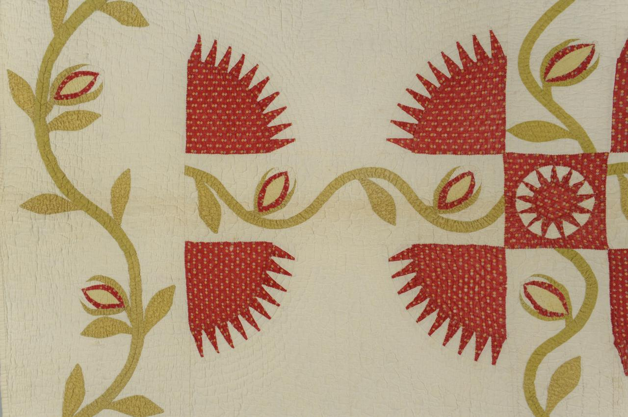 Lot 584: East TN Quilt, New York Beauty Variant