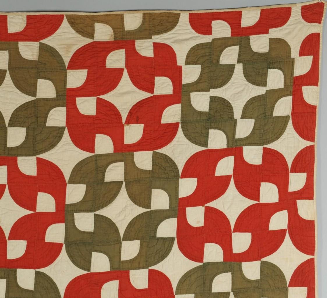 Lot 585: East TN Drunkard's Path Pattern Quilt