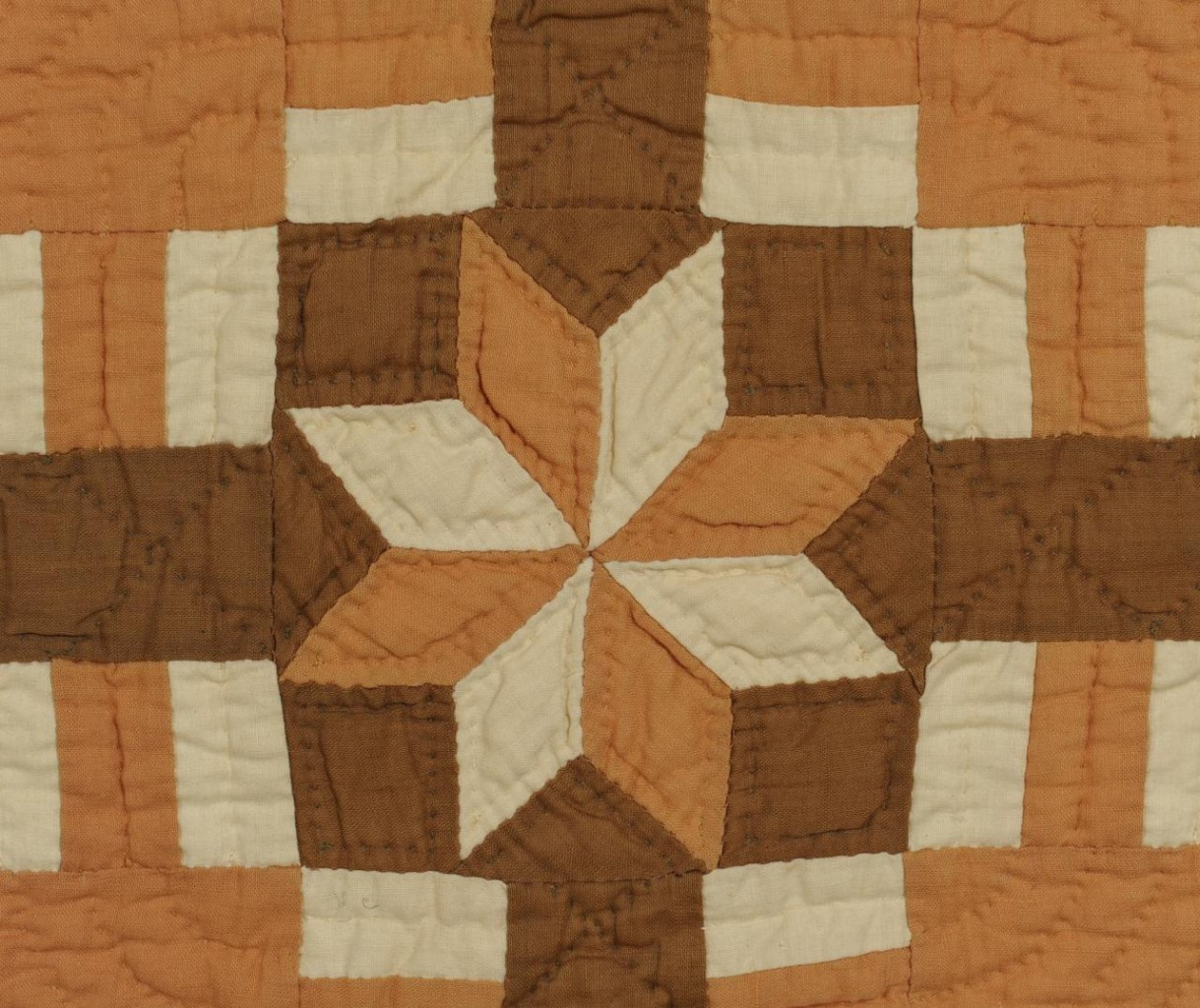 Lot 586: 19th C. Middle TN Quilt, New York Beauty Variant