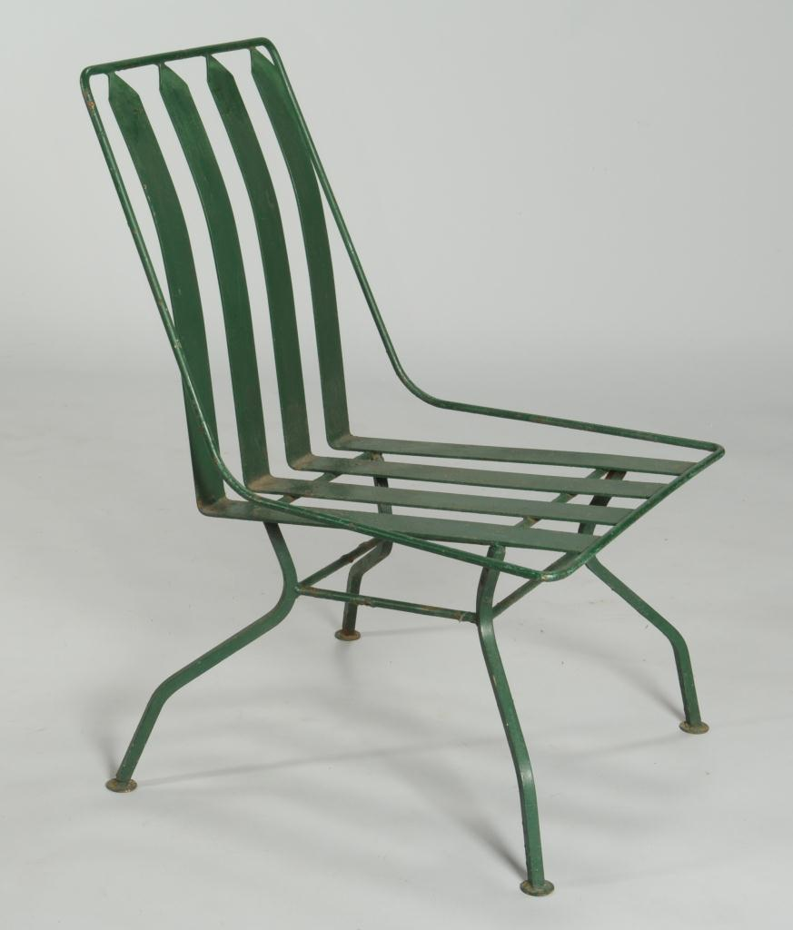 Art Deco Porch: Lot 589: French Art Deco Patio Furniture: Settee & 3 Chairs