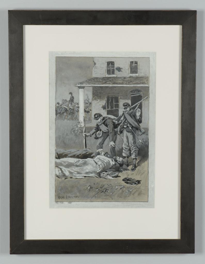 Lot 58: William H. Shelton, Civil War painting
