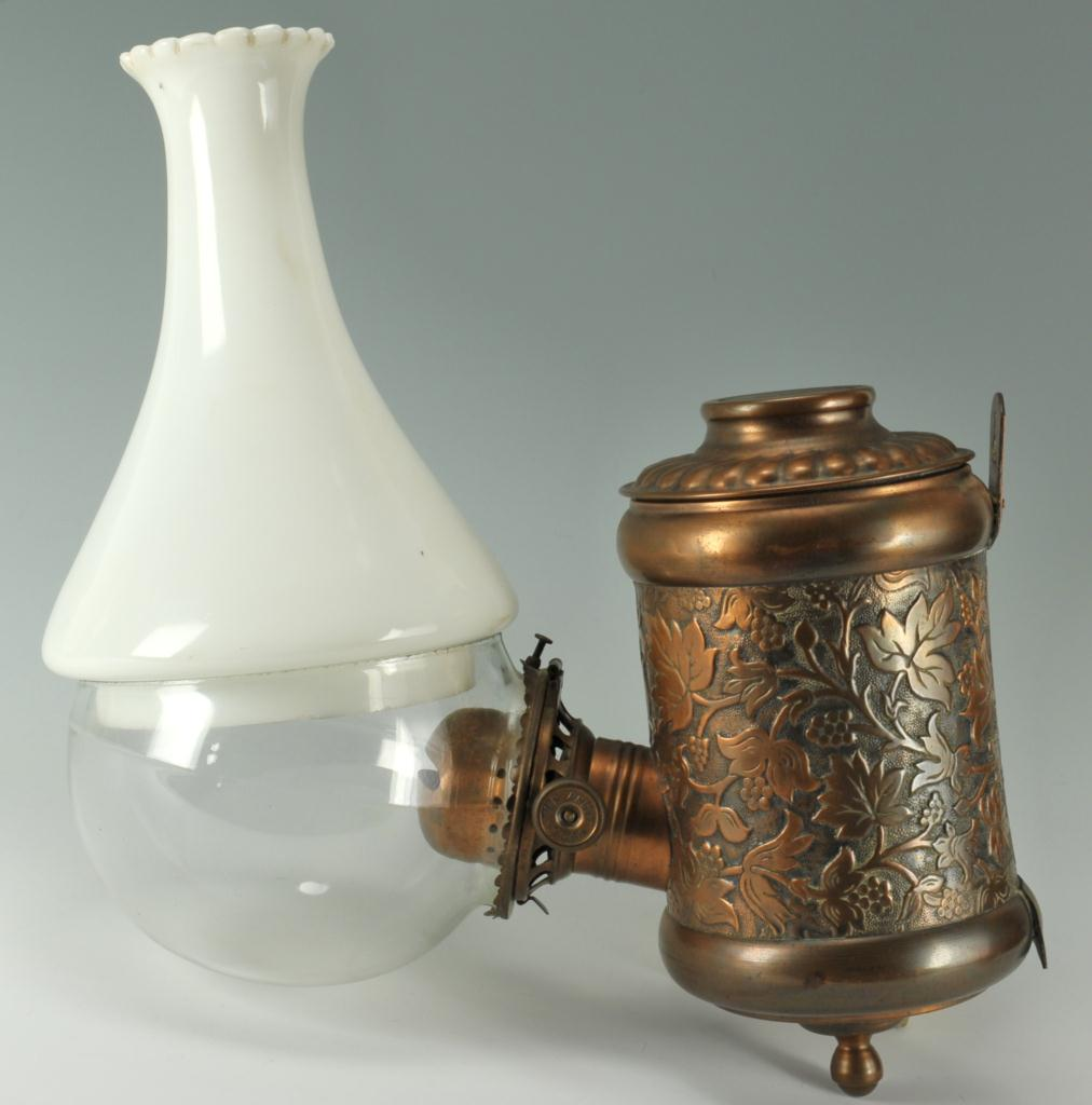 Lot 592: Two Oil Lamps, Angle lamp and Atterbury