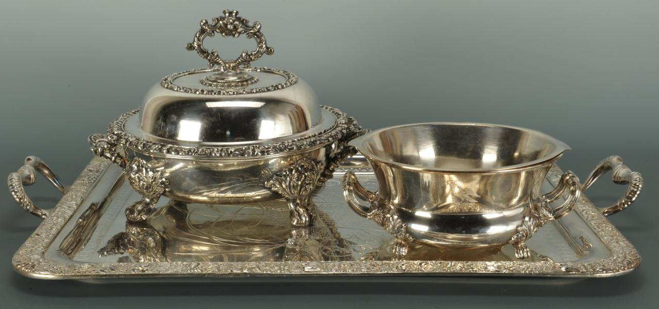 Lot 598: Assorted 19th C. Silverplate, 3 pcs