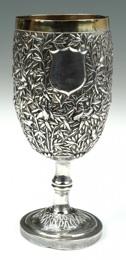 Lot 5: Chinese Export Silver-Gilt Goblet