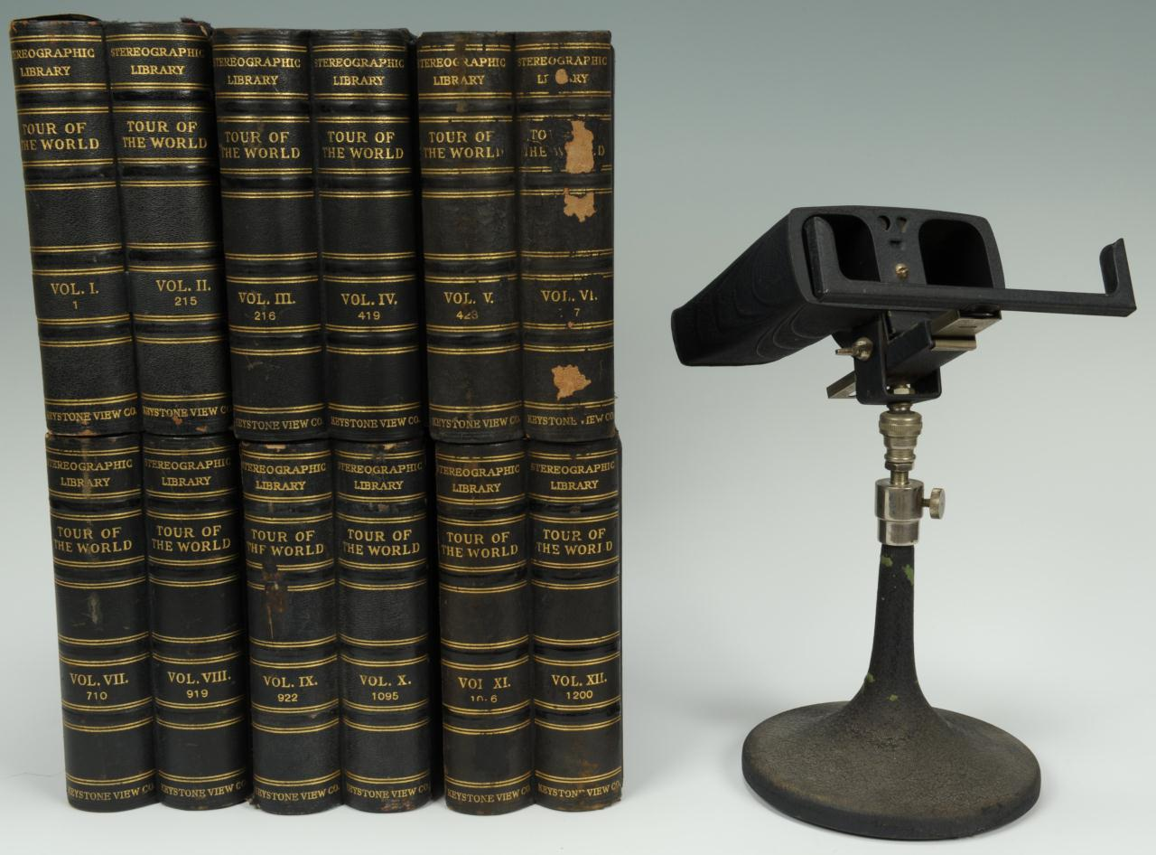Lot 600: Keystone Stereographic Library 12 vols., and viewe