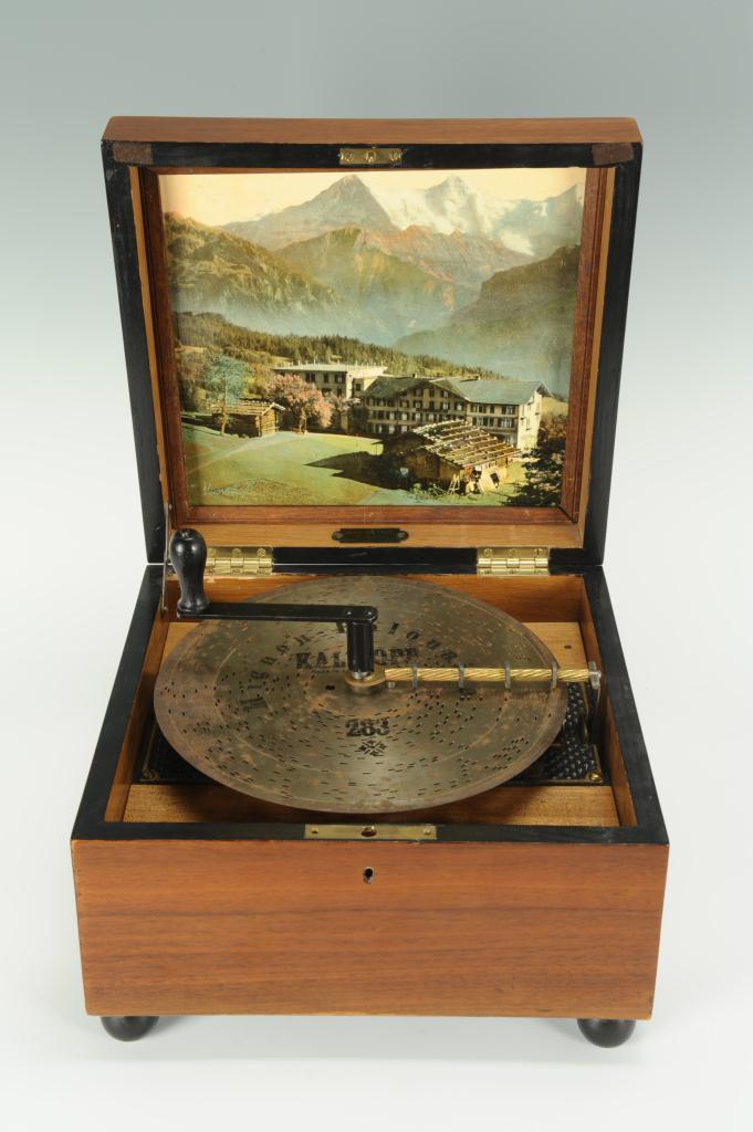 Lot 601: German Mechanical Music Box & 27 Discs
