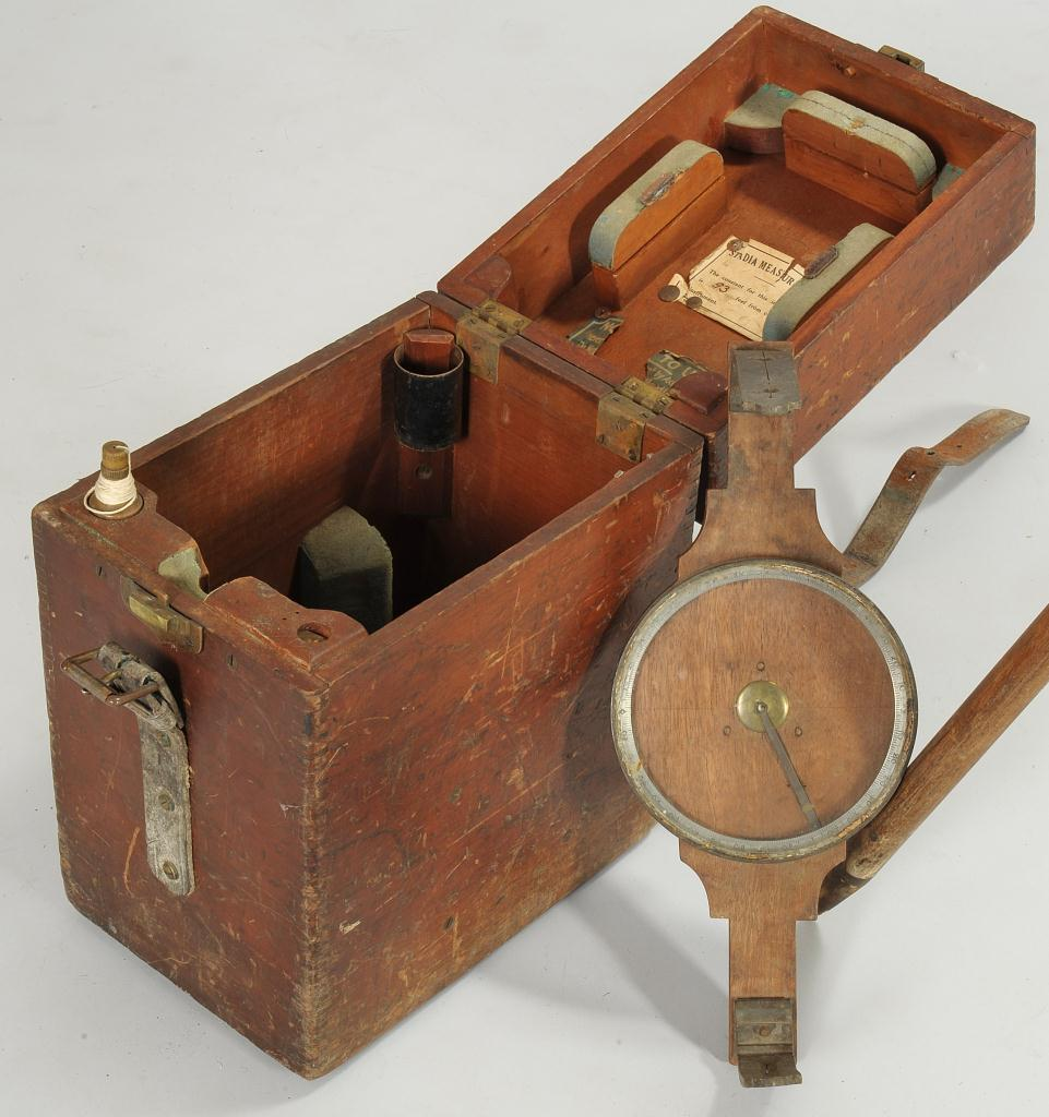 Lot 604: Surveyors Equipment w/ East TN History, 3 items
